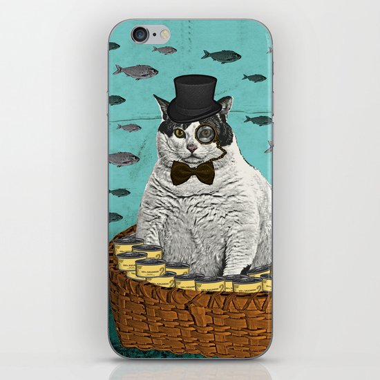 Fat Cat Print iPhone & iPod Skin