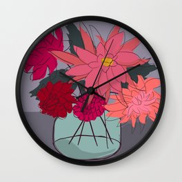 From the Garden IV Wall Clock