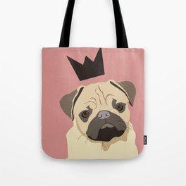 Royal pug Tote Bag