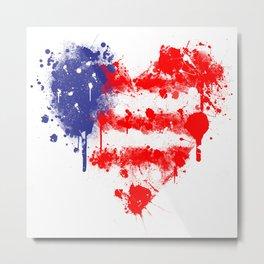 American Heart Metal Print