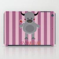 taurus iPad Cases featuring Taurus by Esther Ilustra