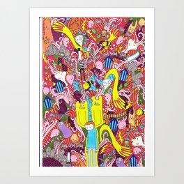 Mind mash up Art Print