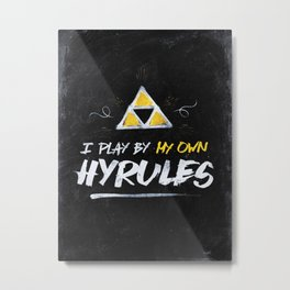 Legend of Zelda Inspired Type I Play by My Own Hyrules Metal Print