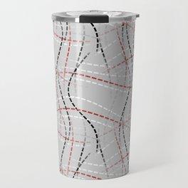 Stitches Abstract Travel Mug