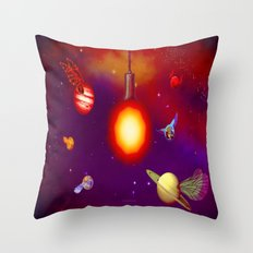 MOTHS TO THE FLAME - 184 Throw Pillow