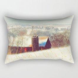 The Barn Over The Hill Rectangular Pillow