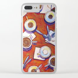 The Get Together ... Kitchen Coffee Cup Art Clear iPhone Case