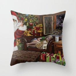 Snappy Santa Throw Pillow