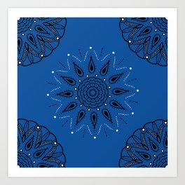 Central Mandala Blue Lapis Art Print