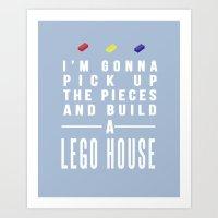 Lego House Art Print