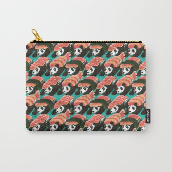 Sushi Panda Pattern Carry-All Pouch