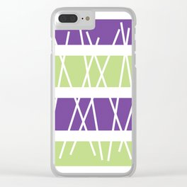 "Geometric Print ""Sticks"" Clear iPhone Case"