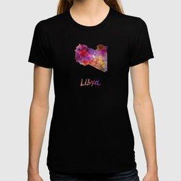 Libya in watercolor T-shirt