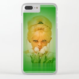 vintage flower girl Clear iPhone Case