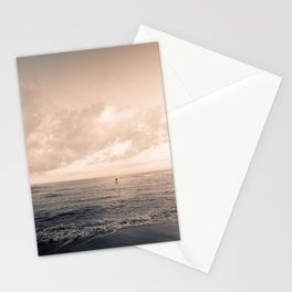 calm day ver.warmblack Stationery Cards