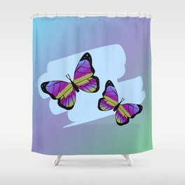 Fly to freedom Shower Curtain