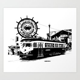 Fisherman Wharf, San Francisco Art Print