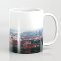 prague Mugs featuring Prague by Fallon Chase