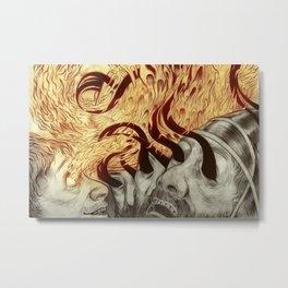 Elisha Blinds Arameans Metal Print