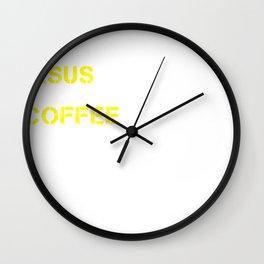 Jesus, Coffee & Massachusetts Wall Clock