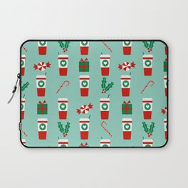 Peppermint Latte mint gender neutral coffee lovers gift for christmas food traditions to remember Laptop Sleeve
