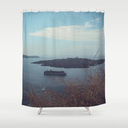 Santorini, Greece 15 Shower Curtain