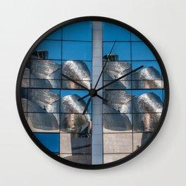 Reflection of Guggemheim Wall Clock