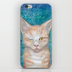 ;P ~ Seb the Groovy Cat ~ Watercolor & Acrylic Painting iPhone & iPod Skin
