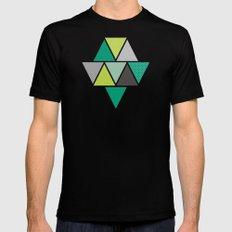 Triangulum - Emerald MEDIUM Black Mens Fitted Tee