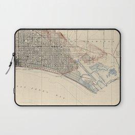 Vintage Map of Long Beach California (1923) Laptop Sleeve