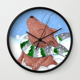 Winter's Here to Stay! Wall Clock