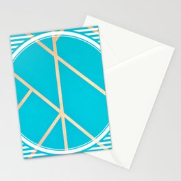 Leaf - circle/line graphic Stationery Cards