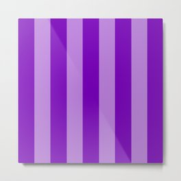 Violet Stripes Metal Print