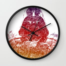 Darth Vader Text Portrait Wall Clock