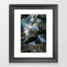 Look into the world from where I stand Framed Art Print