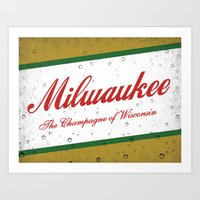 milwaukee Art Prints featuring Milwaukee, Wisconsin by Project Wisconsin