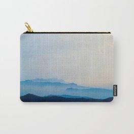 Minimalist Landscape Blue Mountain Parallax Carry-All Pouch