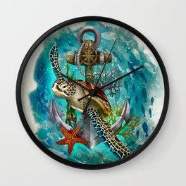 Turtle and Sea Wall Clock