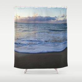 foamy shore Shower Curtain