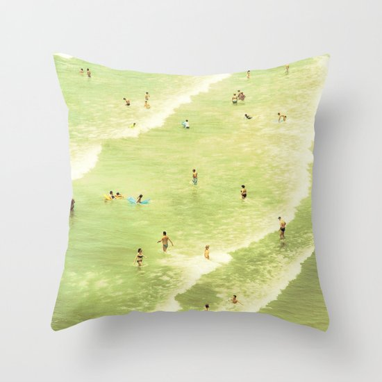 Let's Go Swimming Throw Pillow