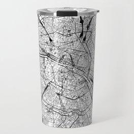 Paris White Map Travel Mug