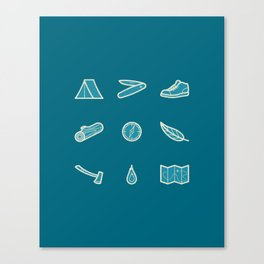 Outdoor Icons Canvas Print
