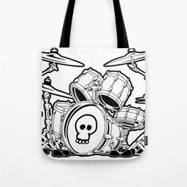 Drum Set Cartoon Tote Bag