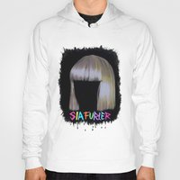 sia Hoodies featuring SIA by Melina Espinoza