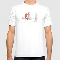Off Target SMALL Mens Fitted Tee White