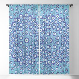Nazar - Turkish Eye Circular Ornament #2 Sheer Curtain