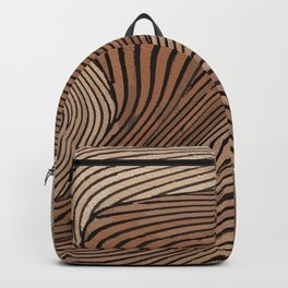 wooden abstract art Backpack
