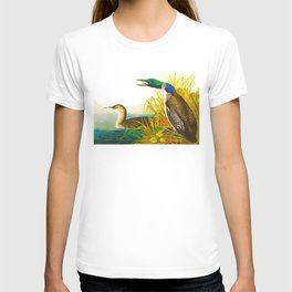Great Norther Diver or Loon John James Audubon Scientific Birds Of America Illustration T-shirt