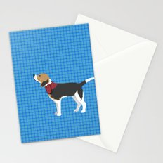 Beagle in Snow Art Stationery Cards