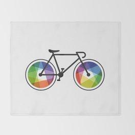Geometric Bicycle Throw Blanket